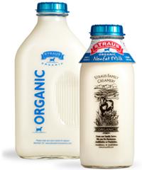 straus organic nonfat milk